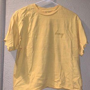 brandy melville honey yellow crop top